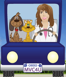 veterinarian Dr. Sharmyn Clark, mobile veterinary care and rainbow bridge pet hospice, chagrin falls ohio 44022